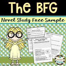 this 8 page sample of my best selling novel study for the bfg by
