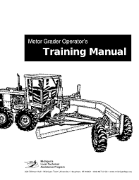 trainee pattern grader motor grader manual