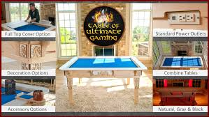 Kickstarter Gaming Desk Table Of Ultimate Gaming The Ultimate Table By Wood Robot
