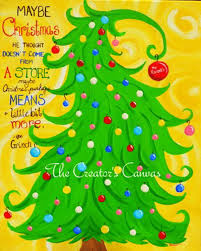 grinch christmas tree 15 easy canvas painting ideas for christmas 2017