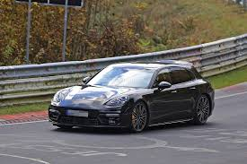 old porsche spoiler 2018 porsche panamera sport turismo wagon spotted with retractable