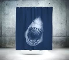 Shark Bedroom Curtains Shark Shower Curtain Lovable Shark Bedroom Curtains Designs With