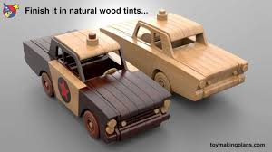 Wooden Toys Plans Free Trucks by Wood Toy Plans Mayberry Police Car Youtube
