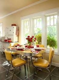 retro kitchen decorating ideas retro kitchen decorating ideas with yelow cushioned chairs and metal