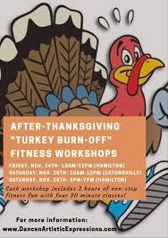 thanksgiving turkey burn fitness workshops