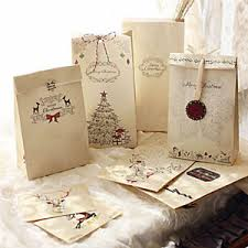christmas paper bags 8pcs set kraft paper bag merry christmas gift bags wedding