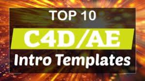 top 10 free intro templates 2017 cinema 4d u0026 after effects