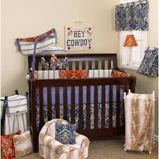 Design Crib Bedding Cotton Tale Designs Sidekick Cowboy 4 Crib Bedding Set Sk4s