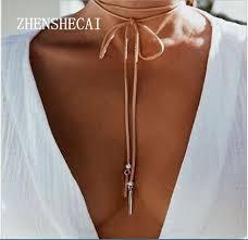velvet choker necklace pendant images 2 pcs new fashion long black brown velvet choker necklace women jpg