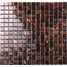 Vitreous Glass Mosaic Shower Tiles Design Brown Glass Tile - Cheap mosaic tile backsplash