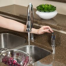 pacific bay grandview pull down kitchen faucet with soap dispenser