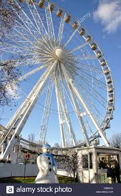 observation wheel at winter hyde park city of