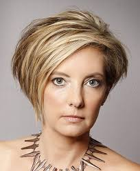 short hairstyles over 50 asymmetrical short hairstyle trendy
