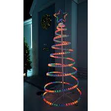 spiral christmas tree the seasonal aisle 3d spiral christmas tree snowman 1 52m