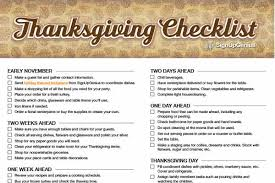 thanksgiving checklist plan a low fuss feast