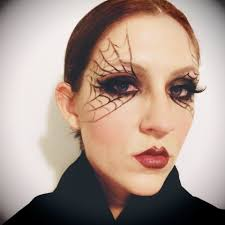 halloween makeup easy black widow youtube