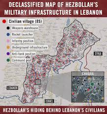 Map Of Lebanon Intelligence Maps Of Hezbollah Bases In Southern Lebanon