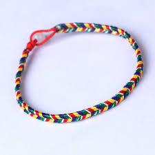 knot cord bracelet images Ethnic child red rope bracelet lucky multicolored bracelet love jpg