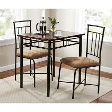 wood and metal dining table sets mainstays 3 piece wood and metal dining set walmart com
