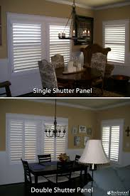 double panel shutters vs single panel shutters on a wide window