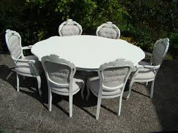 Shabby Chic Dining Table And Chairs Shabby Chic Louis Style Dining Table 6 Ca Folksy