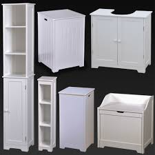 Bathroom Basket Drawers White Wood Bathroom Furniture Shelves Cabinet Laundry Hamper