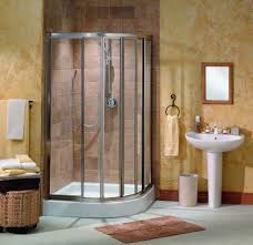 bathroom design of the corner shower doors glass frameless