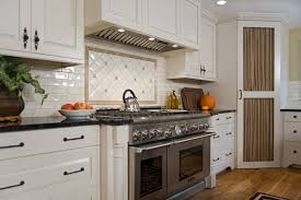 sensational ikea corner cabinet with white subway tile kitchen