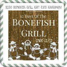 bonefish gift card bonefish grill restaurant gift card giveaway 250 in prizes ends