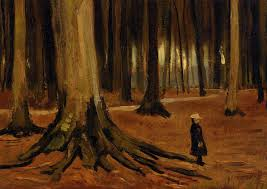 in the woods in the woods 1882 vincent gogh wikiart org