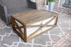 Patio Furniture Made Out Of Wooden Pallets by Coffee Table Diy Outdoor Coffee Table With Storage Crazy Wonderful