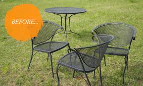 Paint For Metal Patio Furniture Painted Outdoor Furniture Ikea 10 Ways Spray Paint Can Make Your