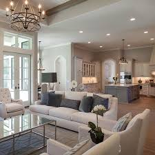 living room kitchen open floor plan put doors all around the dining so it can open up u shaped