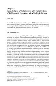 boundedness of solutions to a certain system of differential