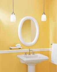 oval bathroom mirrors yellow