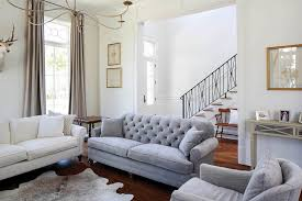 tufted living room furniture gray velvet tufted sofa transitional living room telich for idea 5
