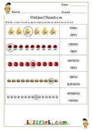 ordinal numbers worksheets learning numbers worksheet math