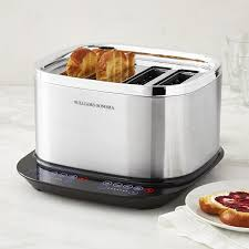 Toaster Glass Sides Williams Sonoma Signature Touch 4 Slice Toaster Williams Sonoma