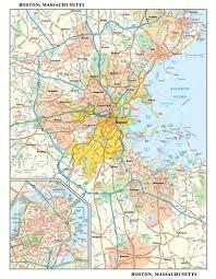 North End Boston Map by Mapsherpa Globe Turner