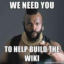 Wikipedia Meme - a wiki a group of user created pages around a certain subject