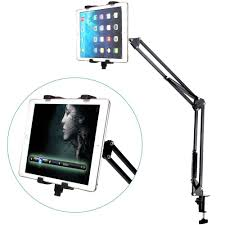 tablet long arm stand desktop bed clamp holder stand for ipad mini