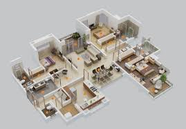 3 Room Flat Interior Design Ideas 3 Bedroom Apartment House Plans