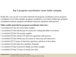 iso coordinator cover letter