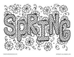 unique spring easter holiday spring coloring pages