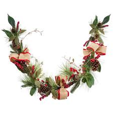 pinecone berry bow garland hobby lobby 5619929