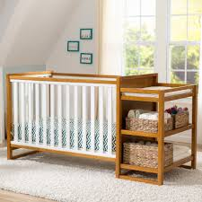 Convertible Cribs With Changing Table And Drawers by Delta Children Gramercy Convertible Crib And Changer White Honey