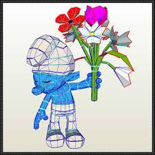 smurf papercrafts papercraftsquare