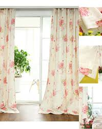 Blue And Yellow Curtains Prints Blue Floral Curtains Red Pink Yellow Black Green Vintage