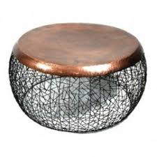 Copper Side Table Round Copper Coffee Table Foter
