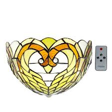 Exciting Lighting It U0027s Exciting Lighting Battery Powered Wall Sconce Stained Glass